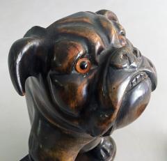 Antique Bulldog Brush Holder - 2056482