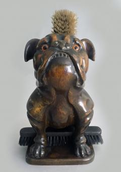 Antique Bulldog Brush Holder - 2056483