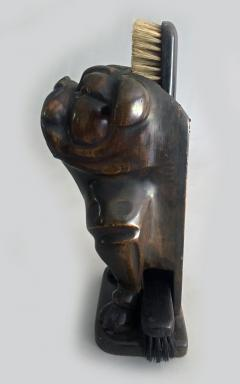 Antique Bulldog Brush Holder - 2056484