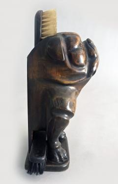 Antique Bulldog Brush Holder - 2056485