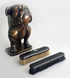 Antique Bulldog Brush Holder - 2056486