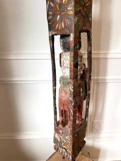 Antique Burmese Carved Architectural Wood Pole - 1910084