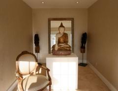 Antique Burmese White Marble Buddha Statue - 88617