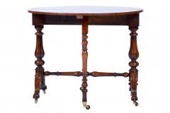 Antique Burr Walnut Sutherland Table England 1870 s - 1873725