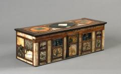 Antique Cartonier Chest Covered with an exotic display of Specimen Marbles - 1301891