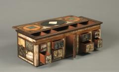 Antique Cartonier Chest Covered with an exotic display of Specimen Marbles - 1301896