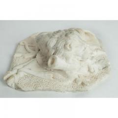 Antique Carved Alabaster Lion Paper Weight Sculpture - 1545644