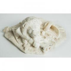 Antique Carved Alabaster Lion Paper Weight Sculpture - 1545647