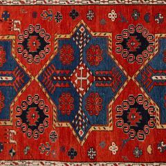 Antique Caucasian hand woven wool rug - 1433223