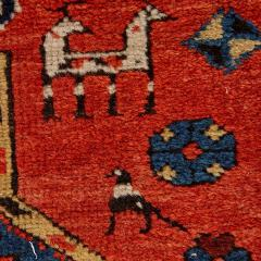 Antique Caucasian hand woven wool rug - 1433225