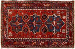 Antique Caucasian hand woven wool rug - 1433444