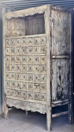 Antique Chinese White Apothecary Cabinet   405558
