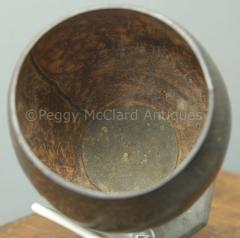 Antique Coconut Pewter Goblet Carved by Captain Edmund Williams - 1392520
