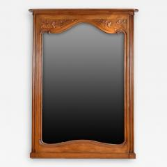 Antique Country French Cherry Wood Mirror France 19th Century - 150900