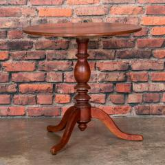 Antique Country Swedish Tea Table With Original Red Washed Finish - 934709