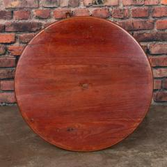 Antique Country Swedish Tea Table With Original Red Washed Finish - 934714