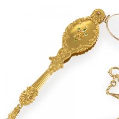 Antique Diamond Demantoid Garnet and Gold Lorgnette - 856874
