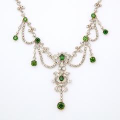 Antique Diamond and Demantoid Garnet Necklace - 669254