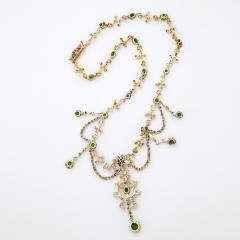 Antique Diamond and Demantoid Garnet Necklace - 669267
