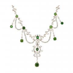 Antique Diamond and Demantoid Garnet Necklace - 670199