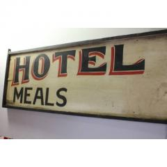 Antique Double Sided Hand Painted Wood Hotel Erway Sign - 1362592