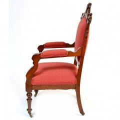 Antique Eastlake Walnut Armchair Victorian Period - 160978