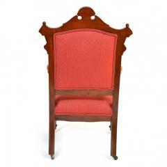 Antique Eastlake Walnut Armchair Victorian Period - 160979