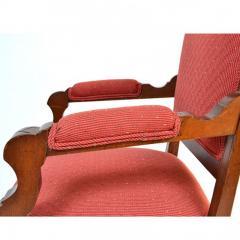 Antique Eastlake Walnut Armchair Victorian Period - 160981