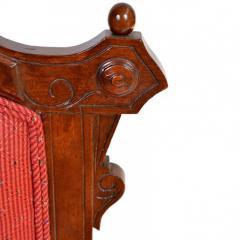 Antique Eastlake Walnut Armchair Victorian Period - 160984