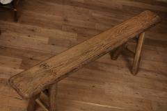 Antique Elm Bench - 1280669