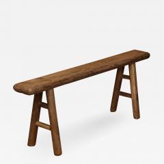 Antique Elm Bench - 1281298