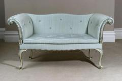 Antique English Chippendale Design Period Antique Small Sofa in Venetian Style - 1258386