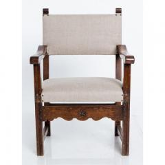 Antique English Country Armchairs with Floral Carvings - 1550082