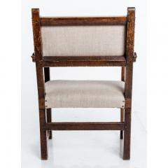 Antique English Country Armchairs with Floral Carvings - 1550083