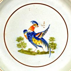 Antique English Pearlware Peafowl Plate - 1769779