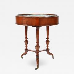 Antique English Round Walnut Garden Planter England 19th Century - 1243822