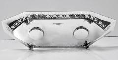 Antique English Silver and Enamel Inkstand hallmarked 1910 11 by Manoah Rhodes - 1167868