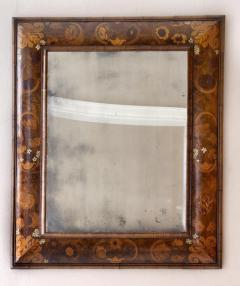 Antique English William and Mary Period Veneered Marquetry Mirror - 1258387