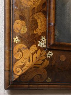 Antique English William and Mary Period Veneered Marquetry Mirror - 1258388