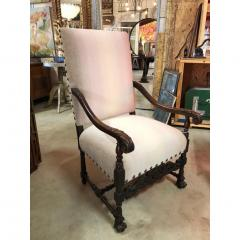 Antique English Wood Carved Arm Chair - 1365099