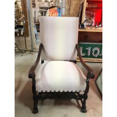 Antique English Wood Carved Arm Chair - 1365100