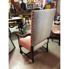 Antique English Wood Carved Arm Chair - 1365104