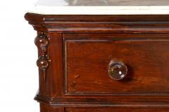 Antique Etagere Cabinet Server 19th Century Mahogany Continental - 1236149