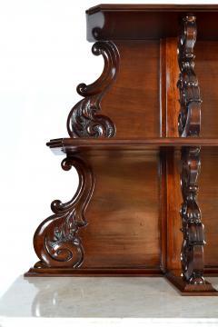 Antique Etagere Cabinet Server 19th Century Mahogany Continental - 1236152
