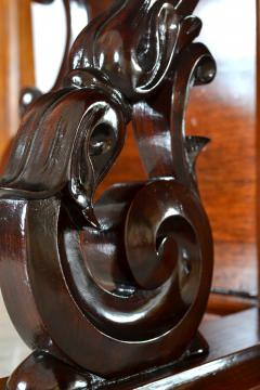Antique Etagere Cabinet Server 19th Century Mahogany Continental - 1236155
