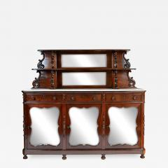 Antique Etagere Cabinet Server 19th Century Mahogany Continental - 1245564