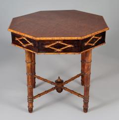Antique Faux Bamboo Center Table - 1197969