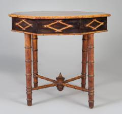 Antique Faux Bamboo Center Table - 1197971