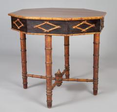 Antique Faux Bamboo Center Table - 1197972