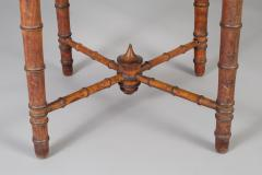 Antique Faux Bamboo Center Table - 1197976